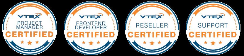 Certificações Vtex Nova Zé